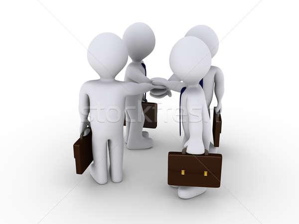 Businessmen swear victory Stock photo © 6kor3dos