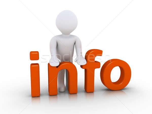 Person providing information Stock photo © 6kor3dos