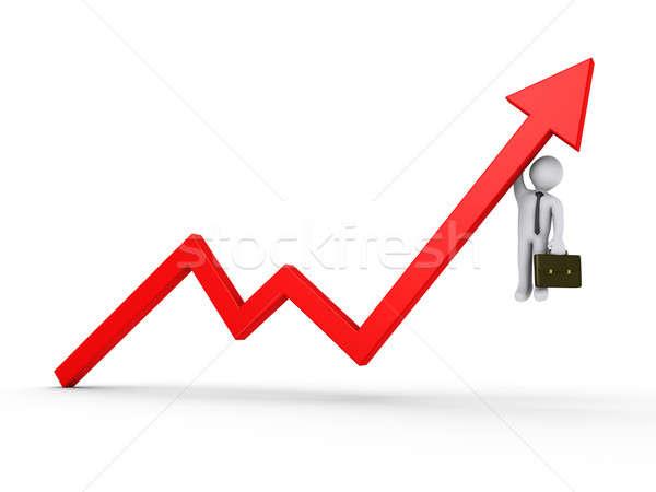 Affaires suspendu bon résultats 3D Photo stock © 6kor3dos