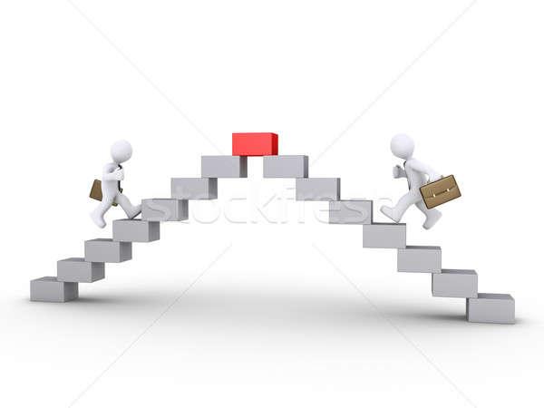 üzletemberek versenyző felső 3D fut kockák Stock fotó © 6kor3dos