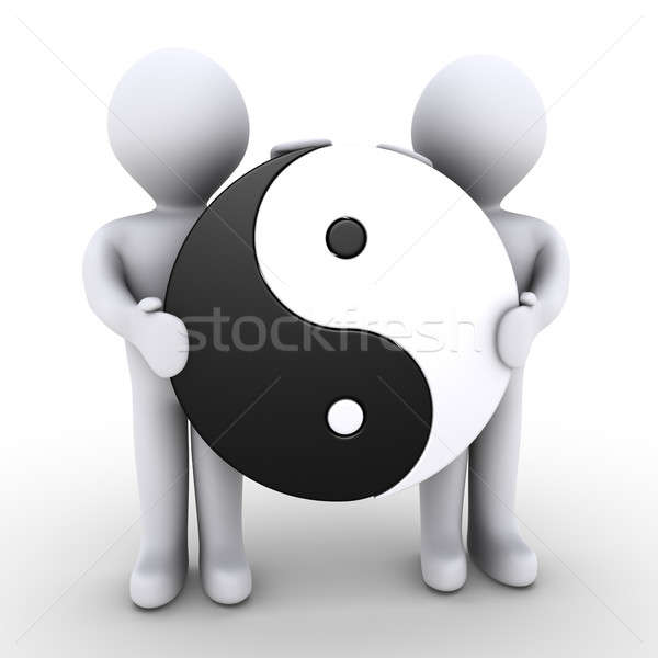 Unity between two people Stock photo © 6kor3dos
