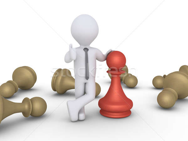 Chess pawn winner amongst others Stock photo © 6kor3dos