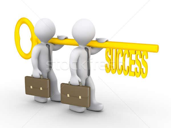 3d businessmen with success key Stock photo © 6kor3dos