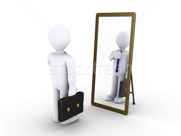 Businessman looking in the mirror Stock photo © 6kor3dos
