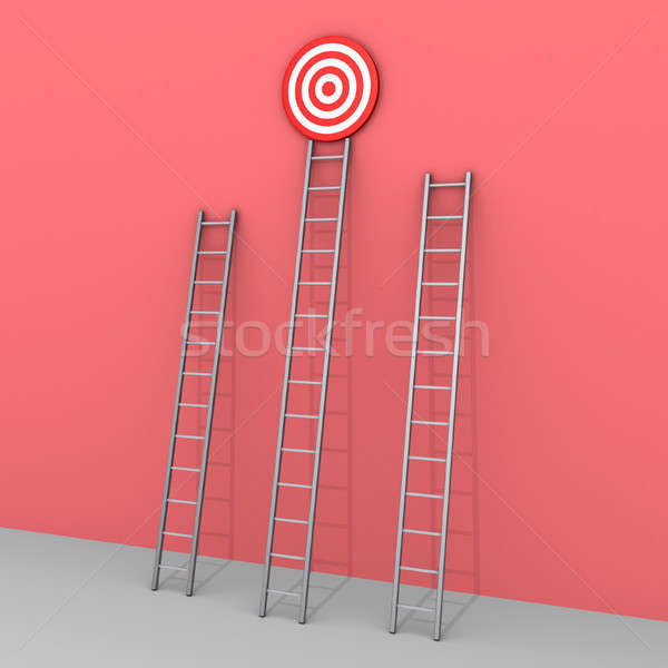 Three ladders but only one leads to success Stock photo © 6kor3dos