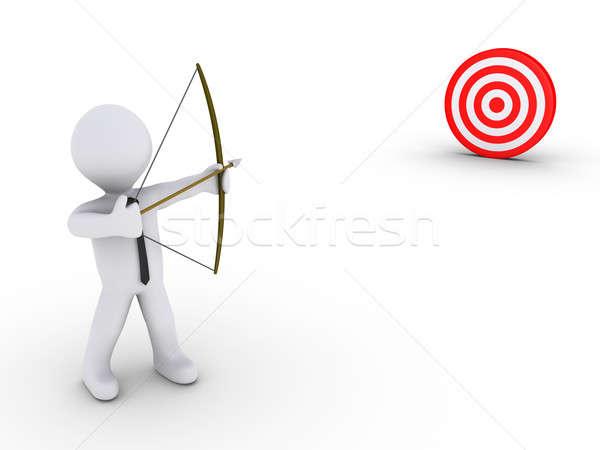 бизнесмен лучник целевой 3D красный человека Сток-фото © 6kor3dos