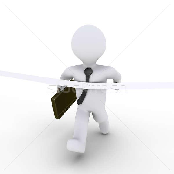 работает бизнесмен первый гонка 3D Сток-фото © 6kor3dos