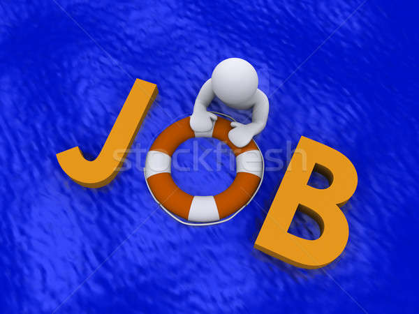 Looking for job in the sea of unemployment Stock photo © 6kor3dos