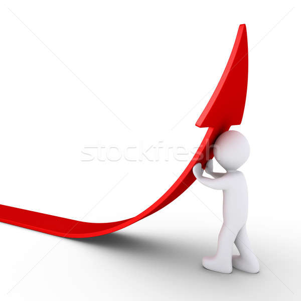 Person pushes an arrow to rise Stock photo © 6kor3dos