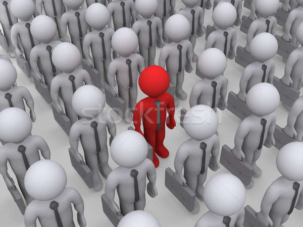 Different businessman in a crowd of others Stock photo © 6kor3dos
