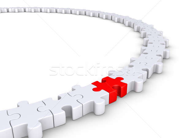 Puzzle pieces connected but one is different Stock photo © 6kor3dos