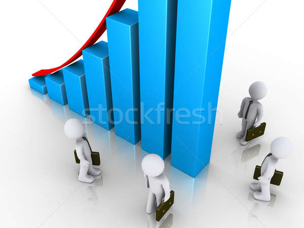 Businessmen look up at rising graph Stock photo © 6kor3dos