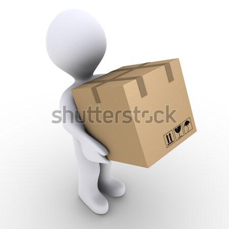 Person carries carton box Stock photo © 6kor3dos