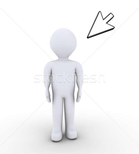 人 立って マウス 3dの人 ポインティング ウェブ ストックフォト © 6kor3dos