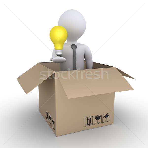 Zdjęcia stock: Działalności · pomysł · biznesmen · żarówka
