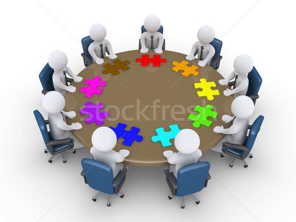 Businessmen in a meeting suggest different solutions Stock photo © 6kor3dos