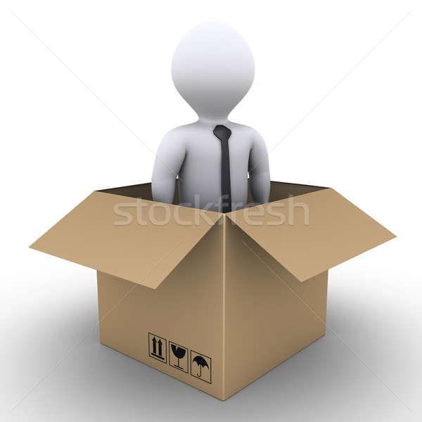 Novo empresário 3D dentro cartão Foto stock © 6kor3dos