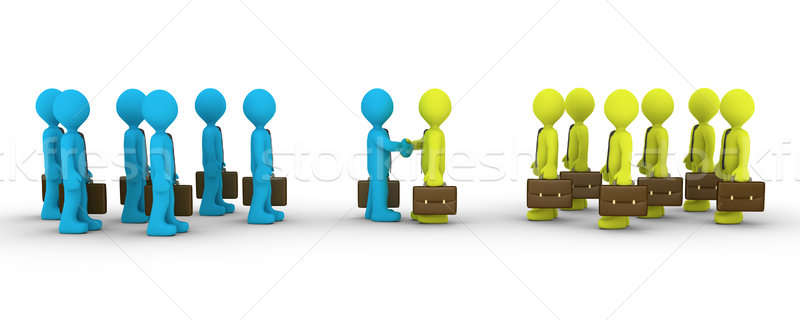 Two opposing teams come to agreement Stock photo © 6kor3dos
