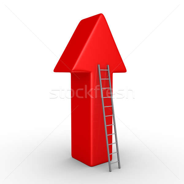 Arrow pointing upwards and a ladder Stock photo © 6kor3dos