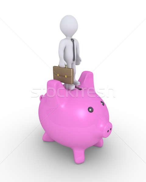 豚 お金 ボックス ビジネスマン 先頭 立って ストックフォト © 6kor3dos