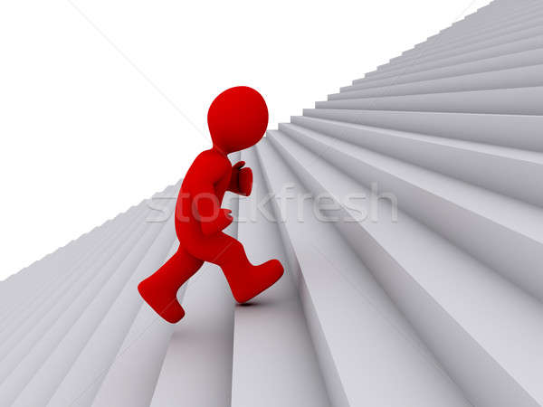 Person running up the stairs Stock photo © 6kor3dos