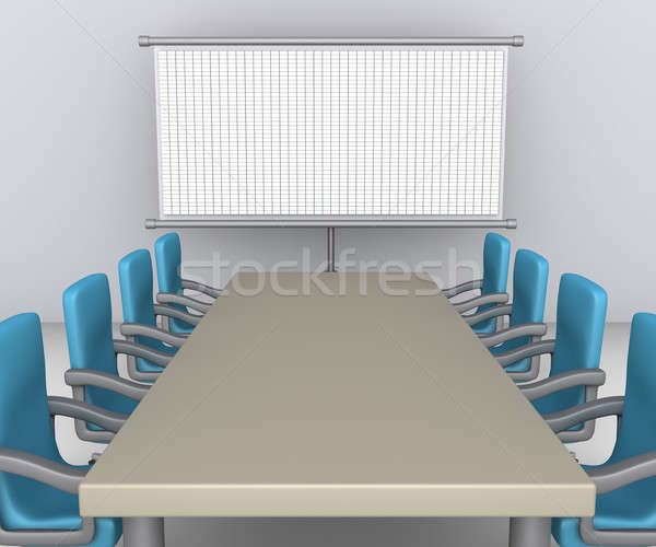 Table and chairs as meeting preparation Stock photo © 6kor3dos