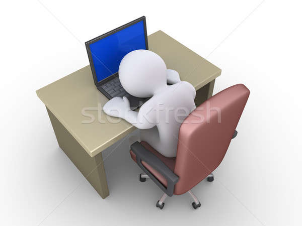 Person is sleeping on laptop Stock photo © 6kor3dos