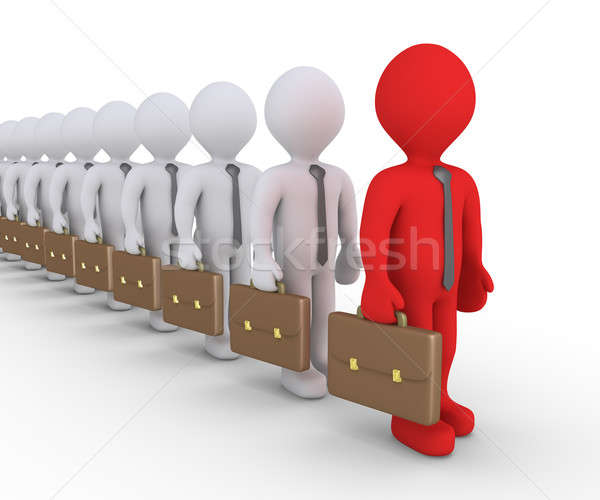 Different businessman in a row Stock photo © 6kor3dos