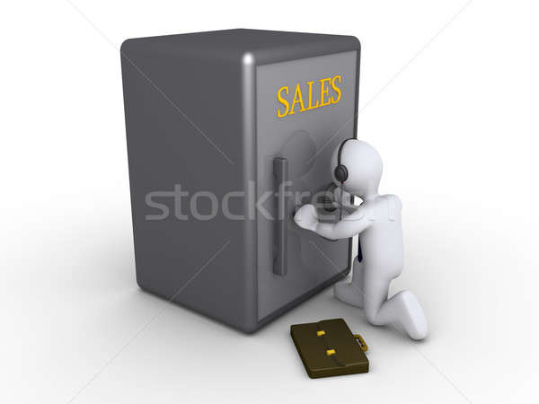 Businessman trying to obtain sales Stock photo © 6kor3dos