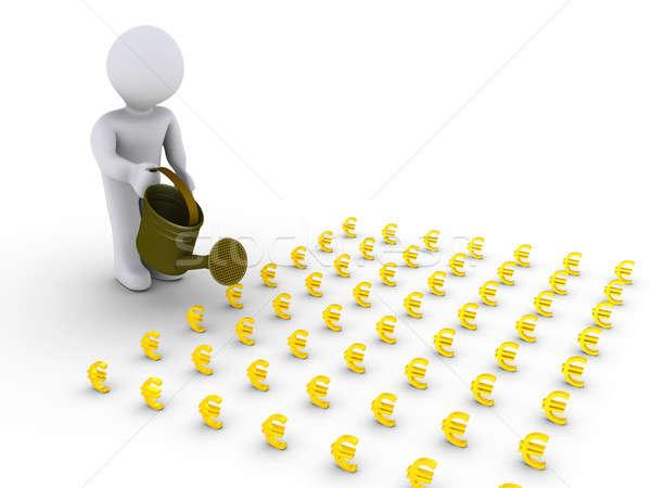 Foto stock: Persona · pequeño · euros · signos · 3 · ª · persona