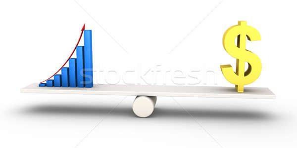 Good results graph equals with dollar symbol Stock photo © 6kor3dos