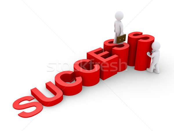 Imprenditore aiutare un altro raggiungere successo 3D Foto d'archivio © 6kor3dos