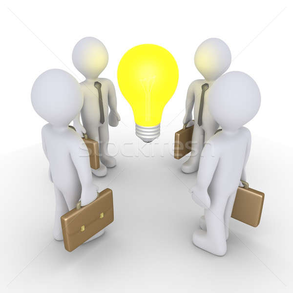 Businessmen and light bulb Stock photo © 6kor3dos