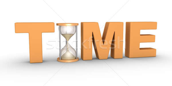 時間 言葉 砂時計 オレンジ ストレス 白 ストックフォト © 6kor3dos