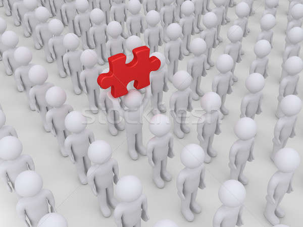 Many people but one finds solution Stock photo © 6kor3dos