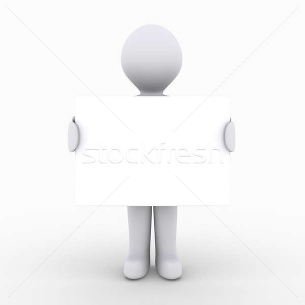 Person holding blank sign Stock photo © 6kor3dos