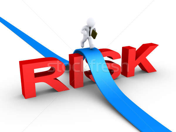 Businessman overcoming risk word Stock photo © 6kor3dos