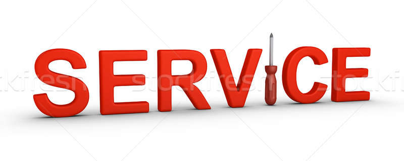 Service word and a screwdriver Stock photo © 6kor3dos
