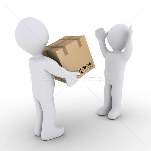 Person is giving to another a sealed carton box Stock photo © 6kor3dos