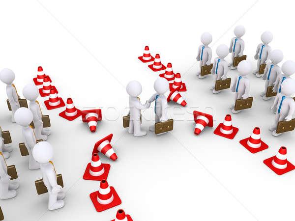 リーダー 2 チーム 握手 ビジネスマン トラフィック ストックフォト © 6kor3dos