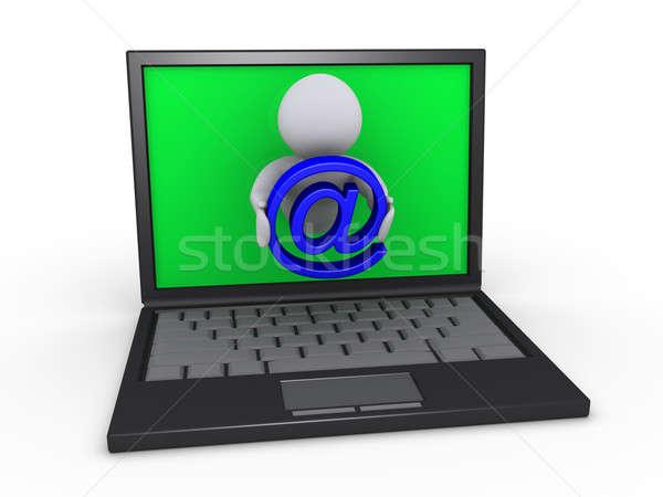 Sending e-mail through laptop Stock photo © 6kor3dos