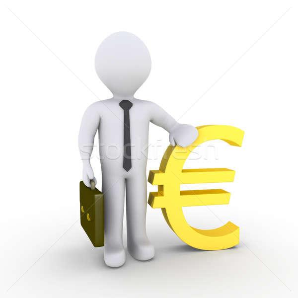 Businessman with euro sign Stock photo © 6kor3dos