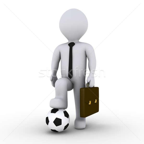 Photo stock: Affaires · prêt · jouer · football · 3D