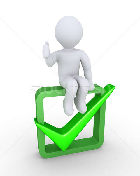 Person approves on check symbol Stock photo © 6kor3dos