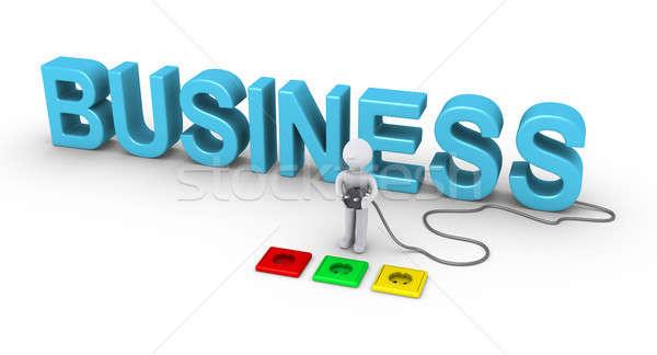 Persona enchufe negocios 3 ª persona Foto stock © 6kor3dos