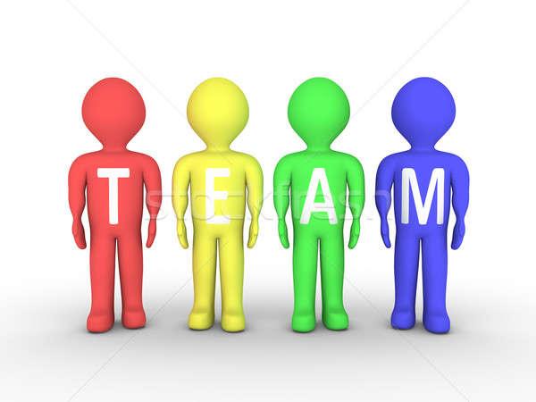 グループの人々  チーム 人 描いた 異なる 色 ストックフォト © 6kor3dos