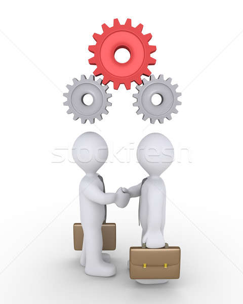 Businessmen agree with cogs Stock photo © 6kor3dos