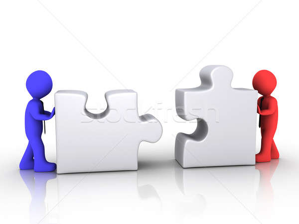 Different businessmen unite Stock photo © 6kor3dos