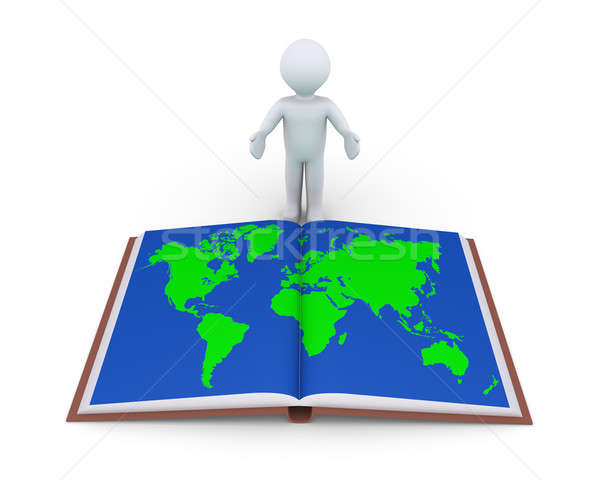 Person showing book with world map Stock photo © 6kor3dos