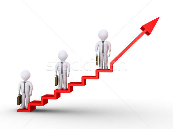 Businessmen standing on stairs of success Stock photo © 6kor3dos
